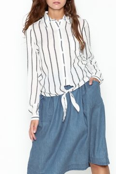 Shoptiques Product: Striped Tie Front Top