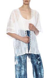 dress forum White Lace Kimono - Product Mini Image
