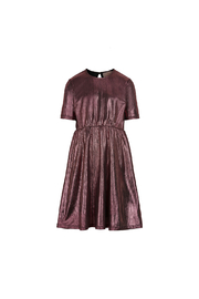 Creamie Dress Glitter Plisse - Withered Rose - Product Mini Image