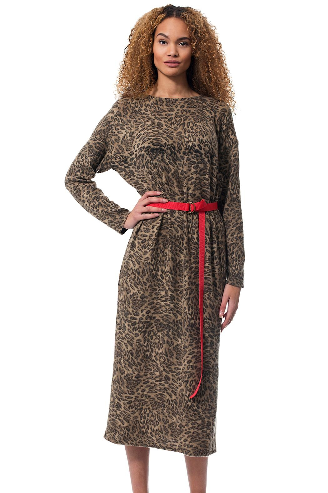 Gypsetters Dress Leopard - Front Full Image