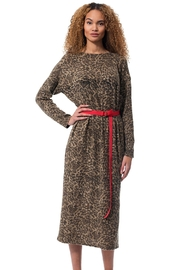 Gypsetters Dress Leopard - Front full body