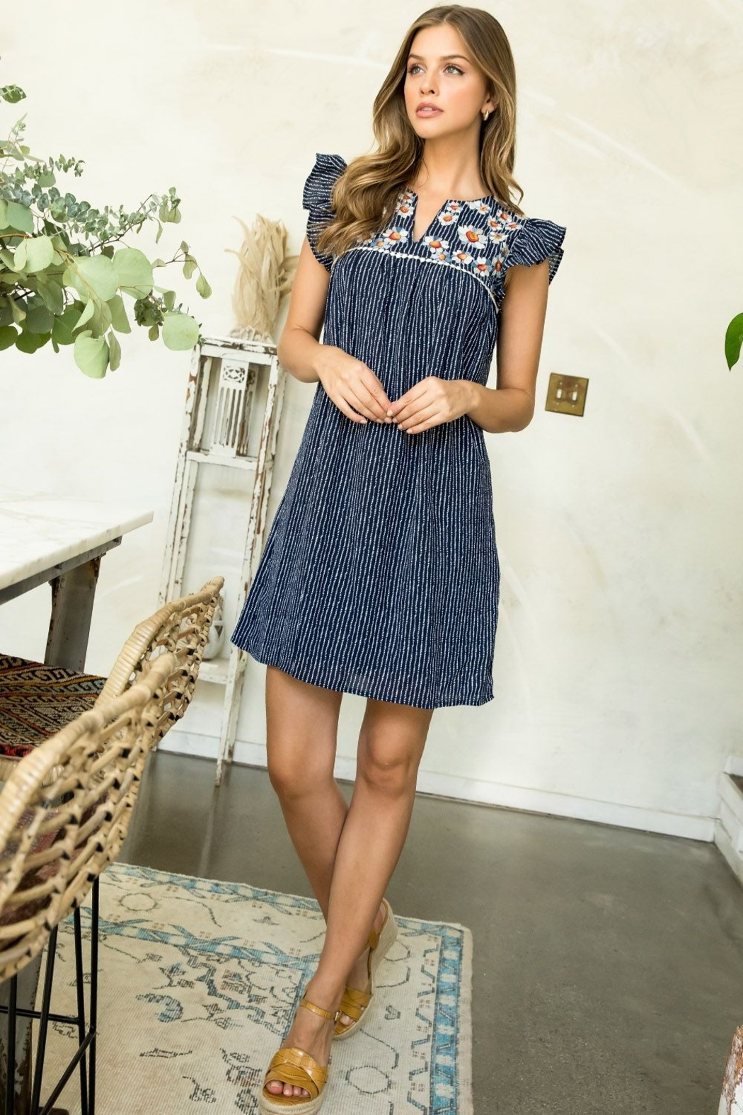 Thml EMBROIDERED DRESS - Main Image