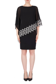 Joseph Ribkoff USA Inc. Dress w Mesh Daisy Overlay - Product Mini Image