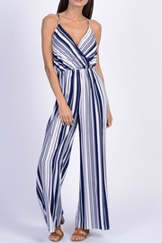 Dress Code Blue Stripe Jumpsuit - Product Mini Image