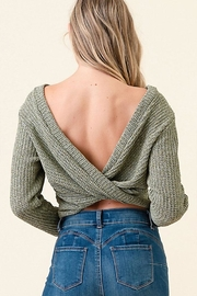 Dress Code Cropped Sweater Top - Front full body