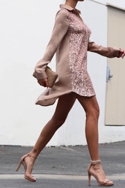 Dress Day Button Down Sequin Shirt Dress - Product Mini Image