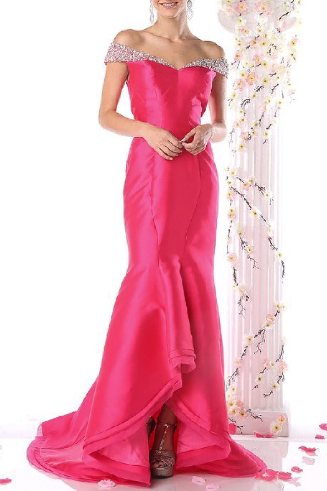 Dress formal dress Off-Shoulder Layered Mermaid - Front Cropped Image