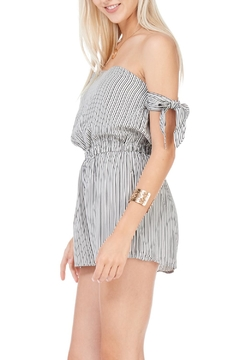 dress forum Black Striped Strapless Romper - Alternate List Image