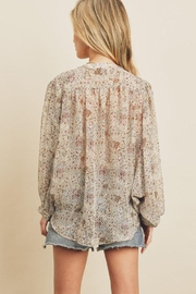 dress forum Boho Ethnic Button Down Top - Front full body