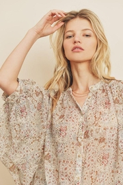dress forum Boho Ethnic Button Down Top - Side cropped