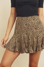 dress forum Cheetah Ruffled Mini-Skirt - Product Mini Image