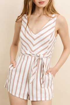 dress forum Chevron Tie Romper - Product List Image