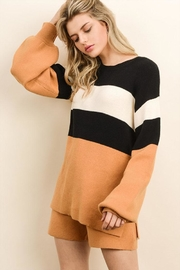 dress forum Color Block Sweater - Front cropped