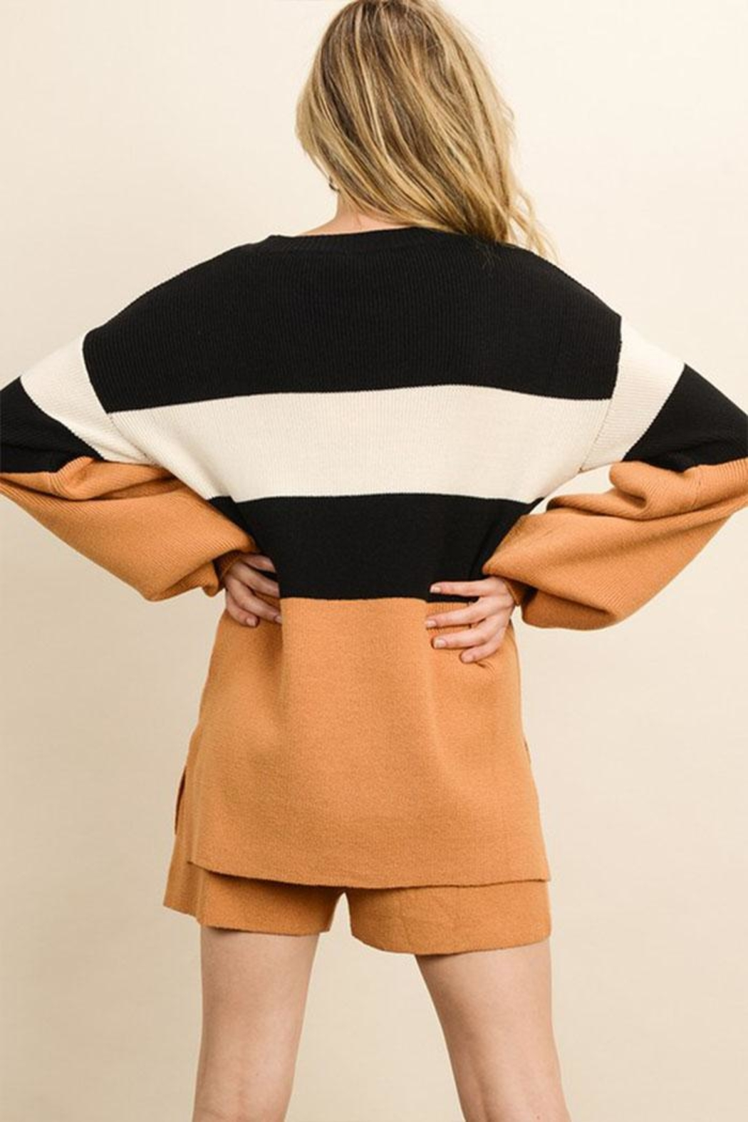dress forum Color Block Sweater - Front Full Image