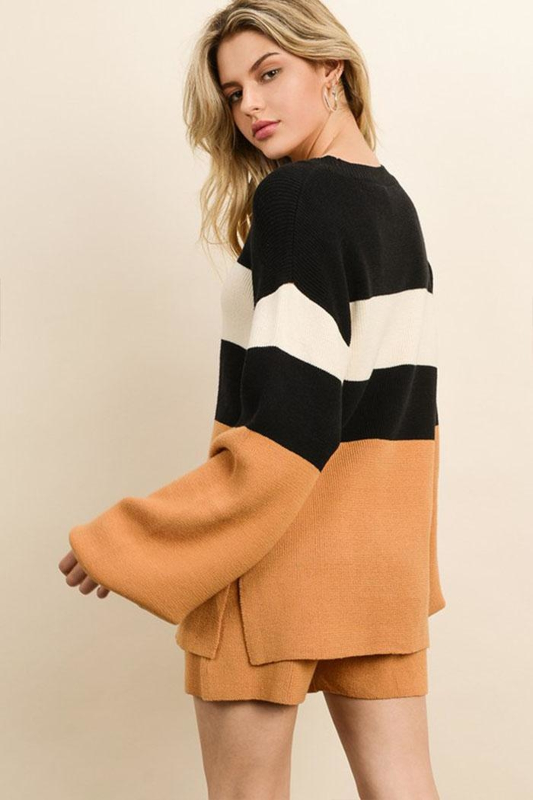 dress forum Color Block Sweater - Side Cropped Image