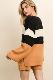 dress forum Color Block Sweater - Side cropped