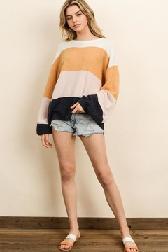 dress forum Colorblock Wide-Sleeve Sweater - Product List Image