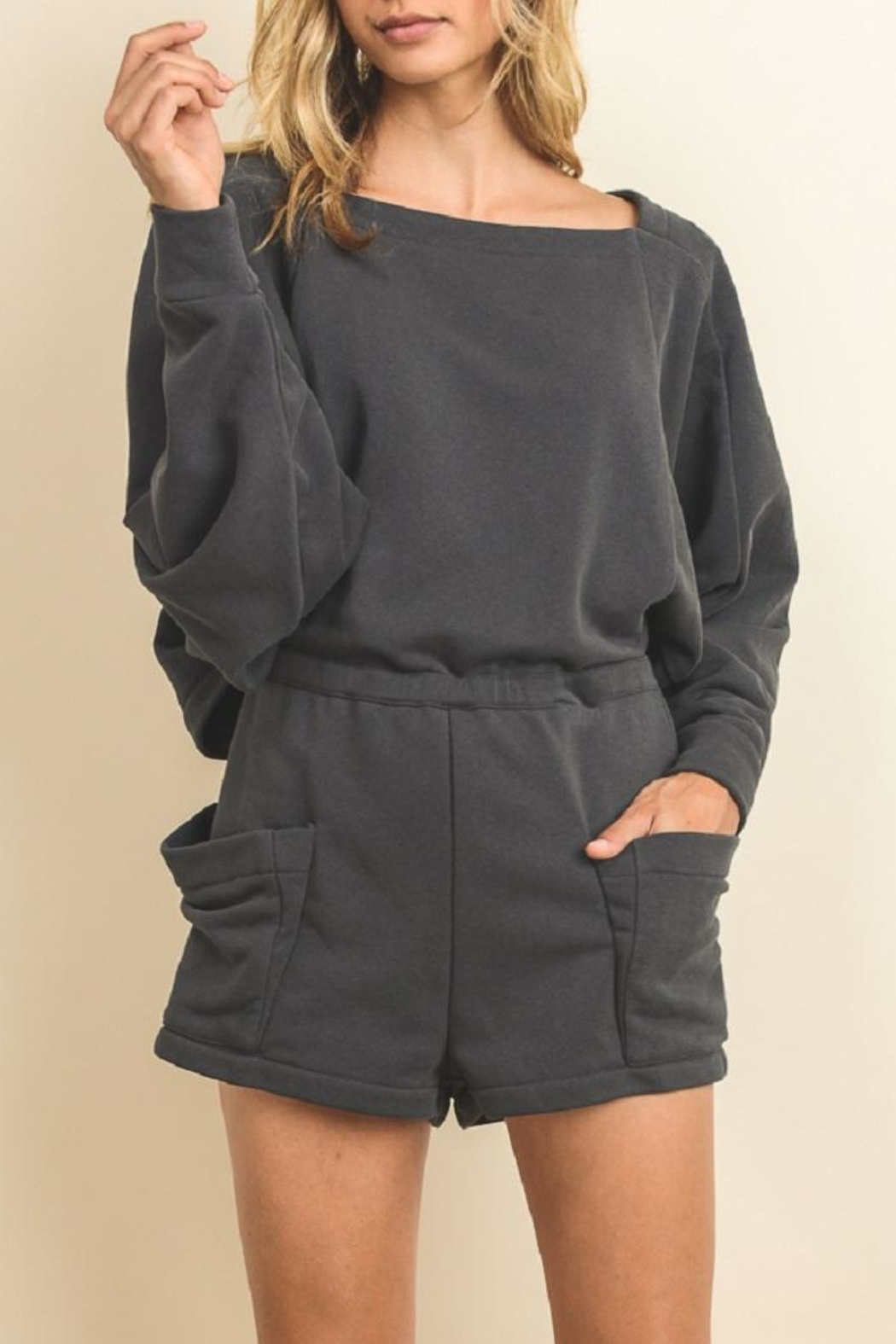 dress forum Comfy Grey Romper - Main Image