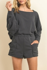 dress forum Comfy Grey Romper - Front cropped