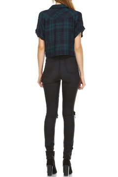 dress forum Cropped Edgy Flannel Top - Alternate List Image