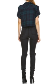 dress forum Cropped Edgy Flannel Top - Front full body