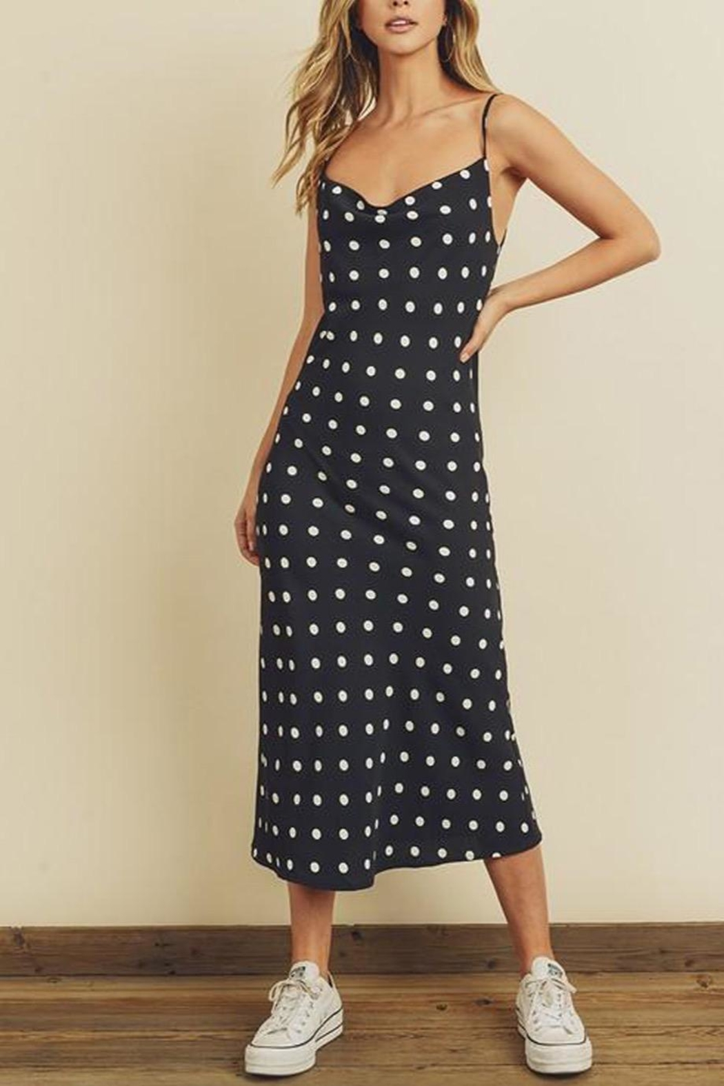 dress forum Dotted Midi Dress - Front Cropped Image
