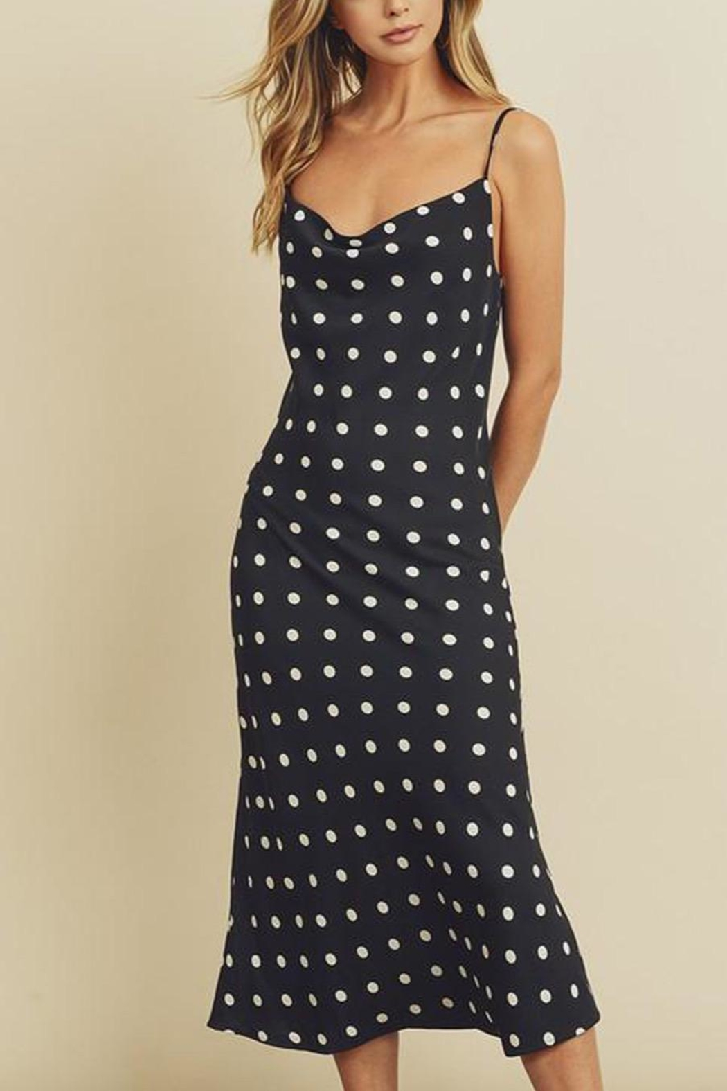 dress forum Dotted Midi Dress - Front Full Image