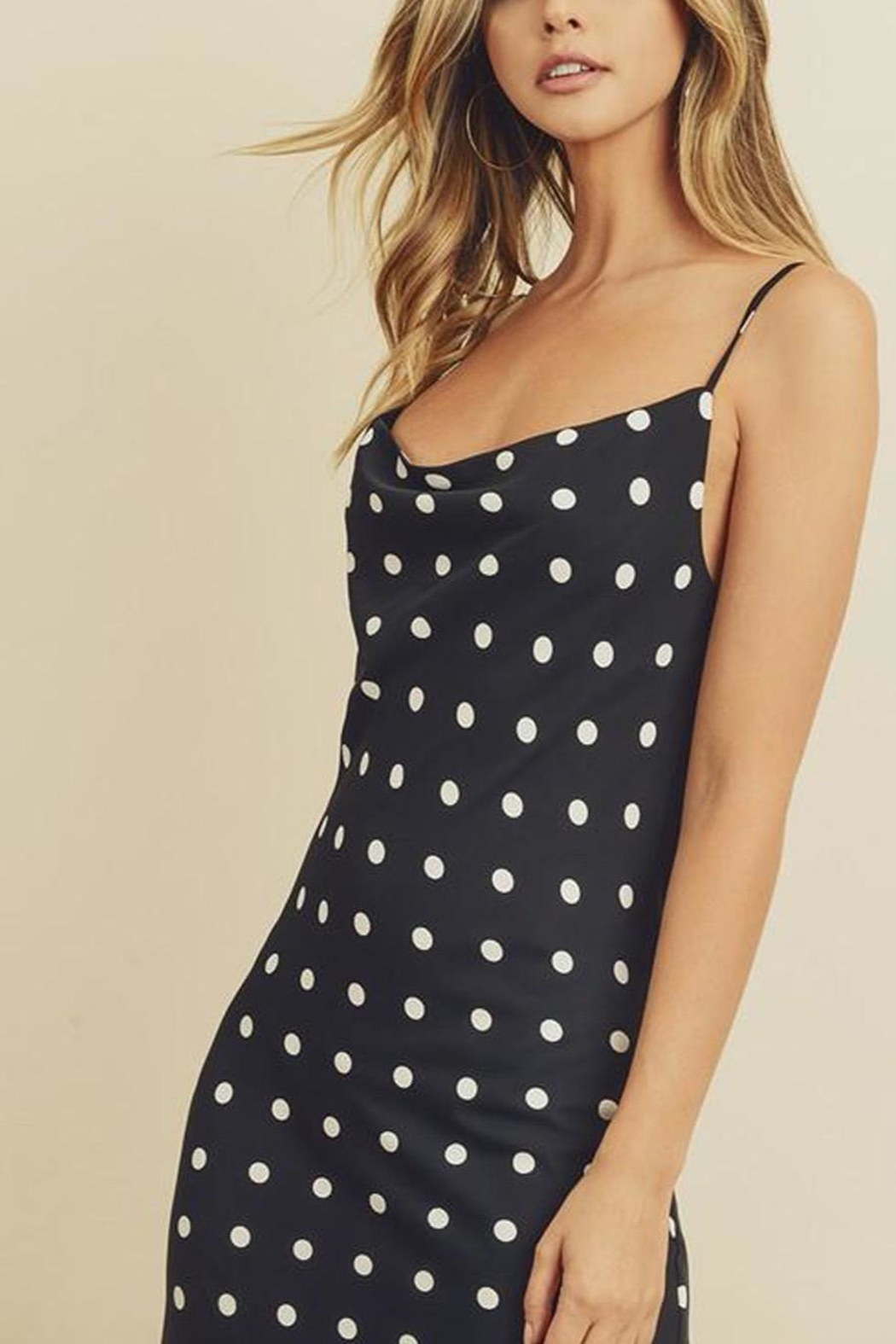 dress forum Dotted Midi Dress - Side Cropped Image