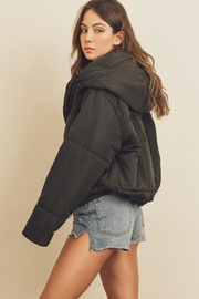 dress forum Drawstring Puffer Jacket - Back cropped