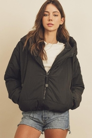 dress forum Drawstring Puffer Jacket - Front full body