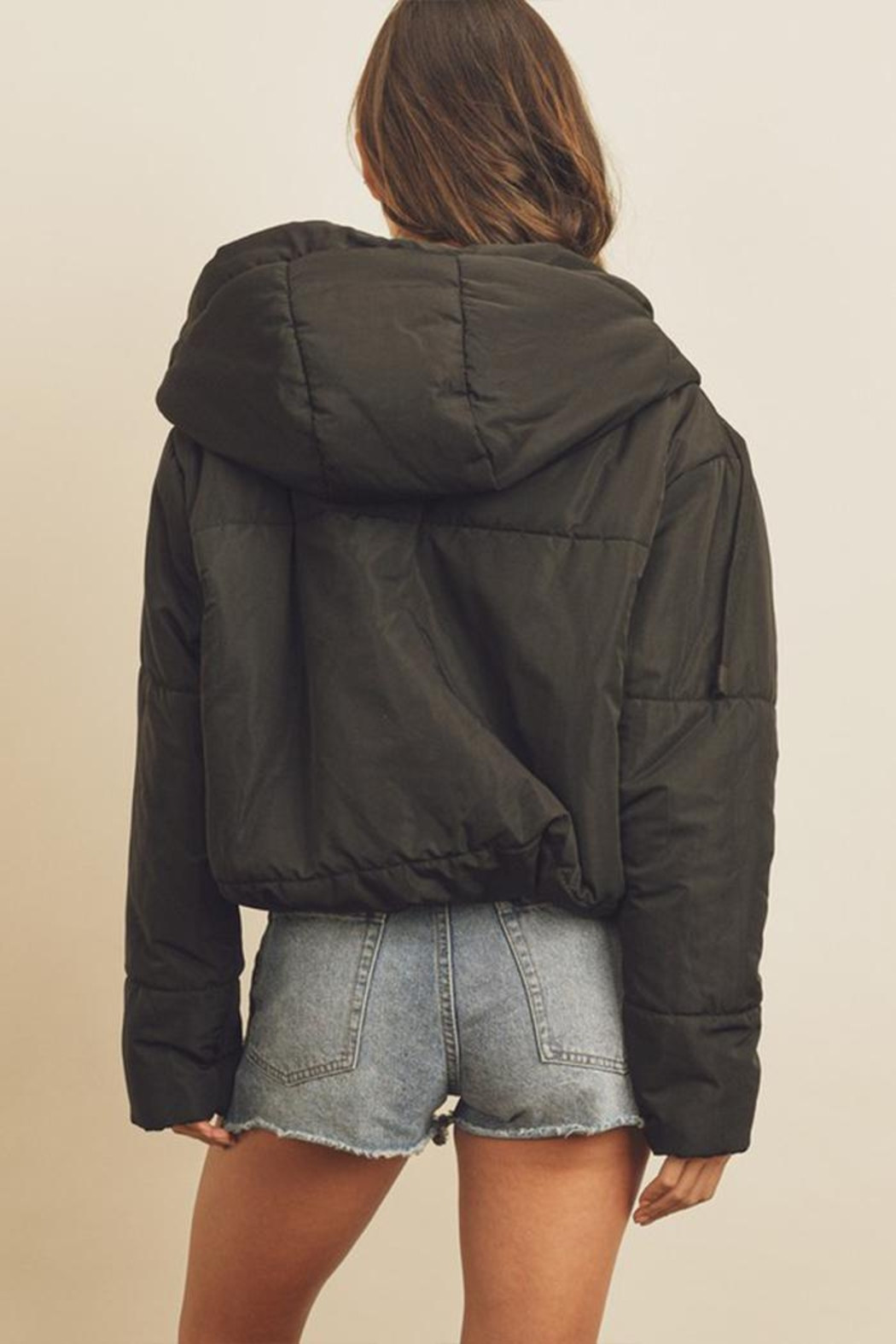 dress forum Drawstring Puffer Jacket - Side Cropped Image