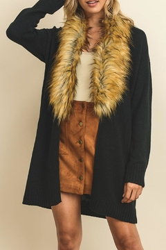 dress forum Faux Fur Cardigan - Product List Image