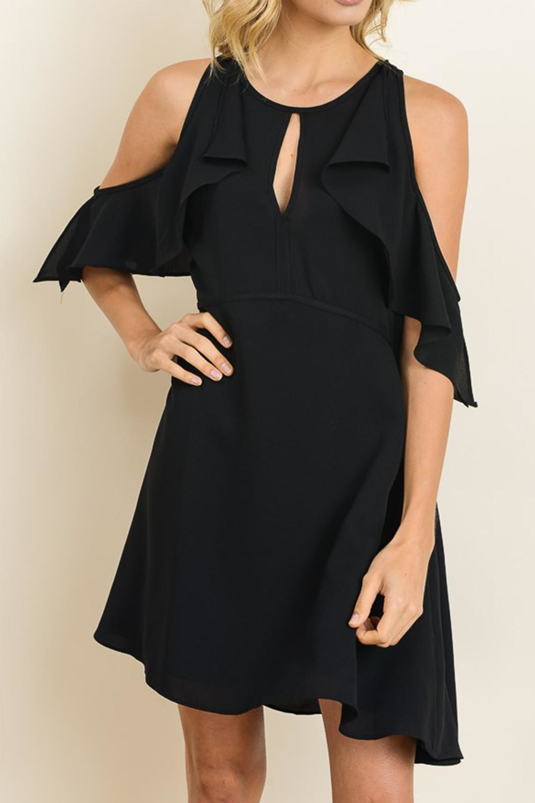 dress forum Flirty Black Dress - Side Cropped Image