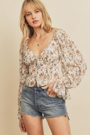 dress forum Floral Button-Down Top - Product Mini Image