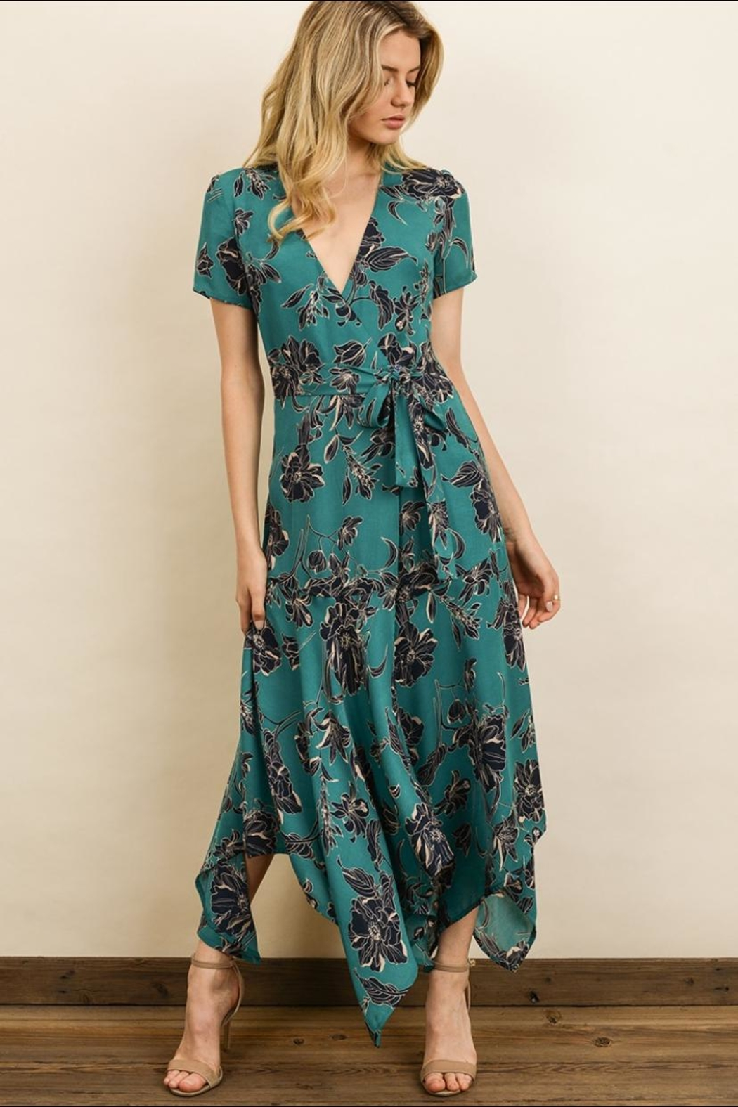 dress forum Floral Midi Dress - Front Cropped Image