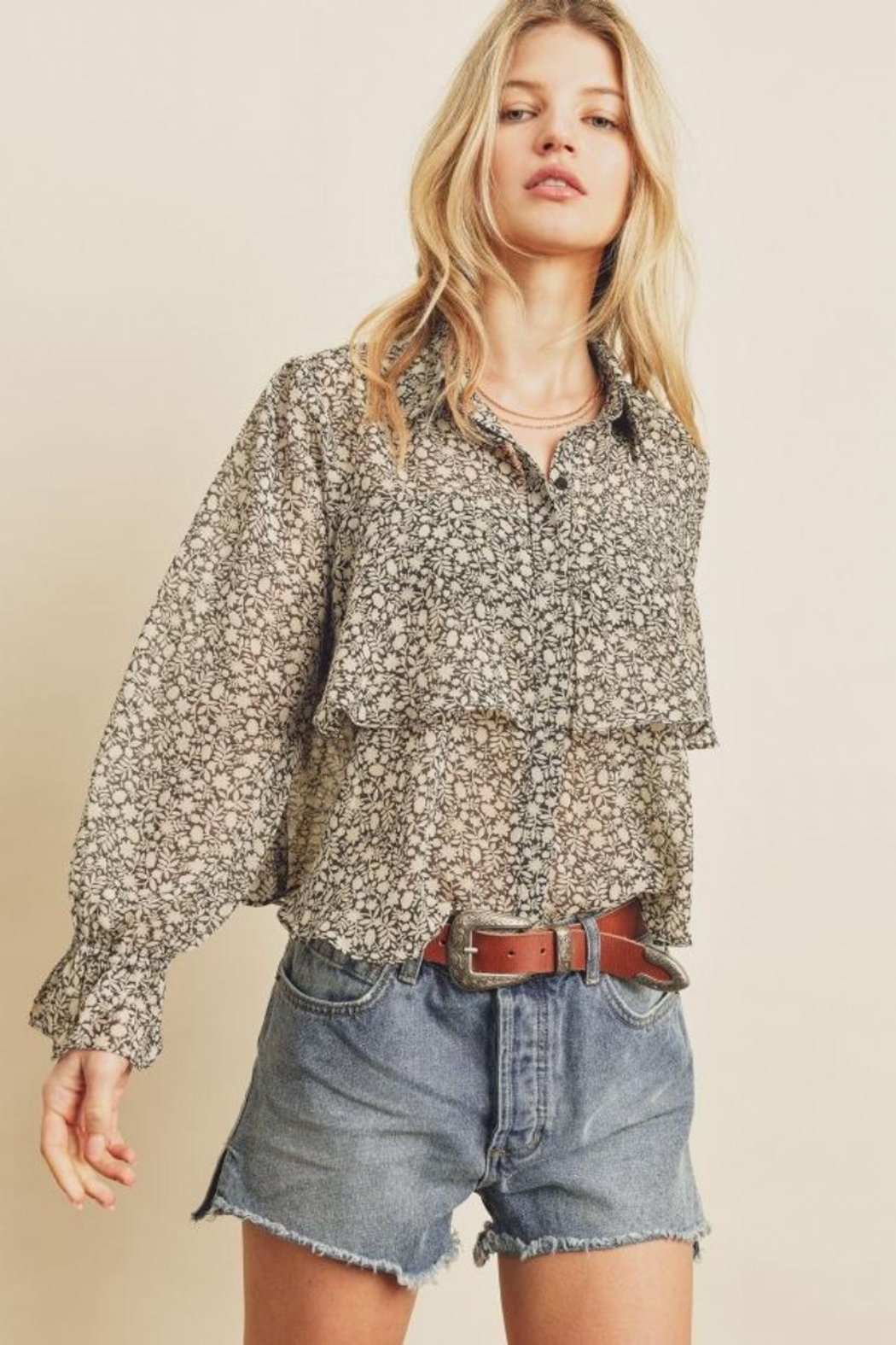 dress forum Floral Overlay Blouse - Main Image
