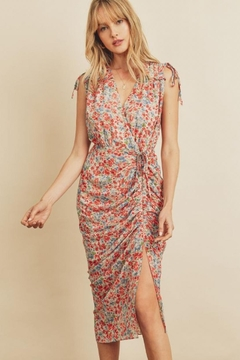 dress forum Floral Ruched Midi-Dress - Product List Image