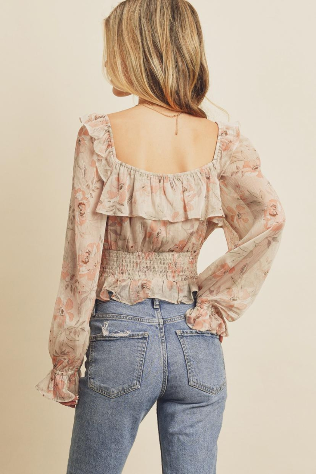 dress forum Floral Ruffle Blouse - Front Full Image