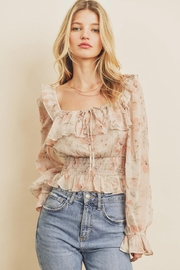 dress forum Floral Ruffle Blouse - Front cropped