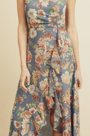 dress forum Floral Ruffle Hi-Low - Back cropped