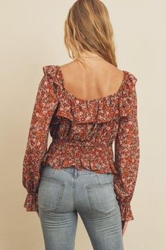 dress forum Floral Ruffled Blouse - Alternate List Image