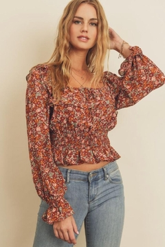 dress forum Floral Ruffled Blouse - Product List Image