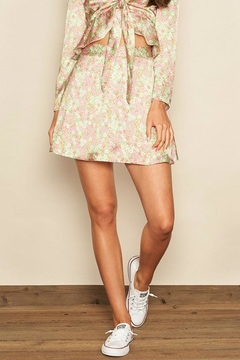 dress forum Floral Satin Skirt - Product List Image