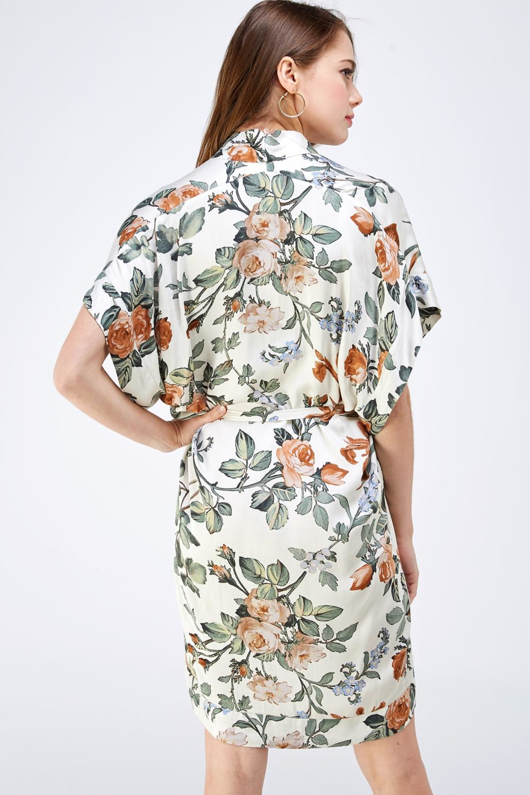dress forum Floral Shirt Dress - Back Cropped Image
