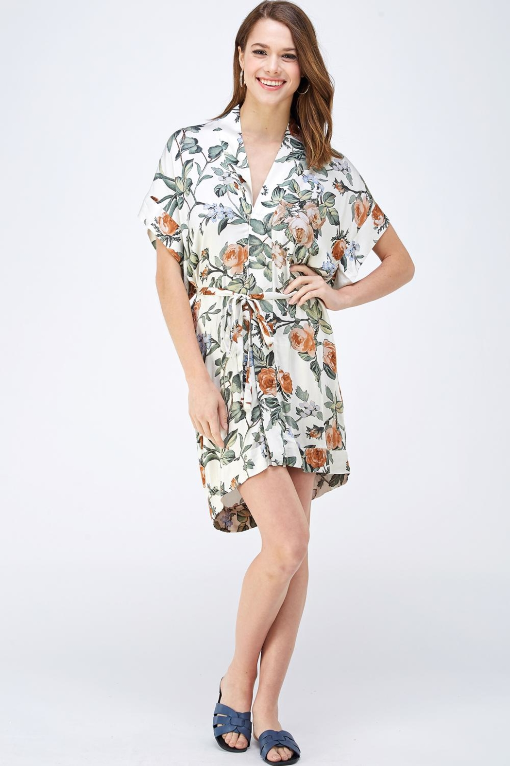 dress forum Floral Shirt Dress - Front Full Image