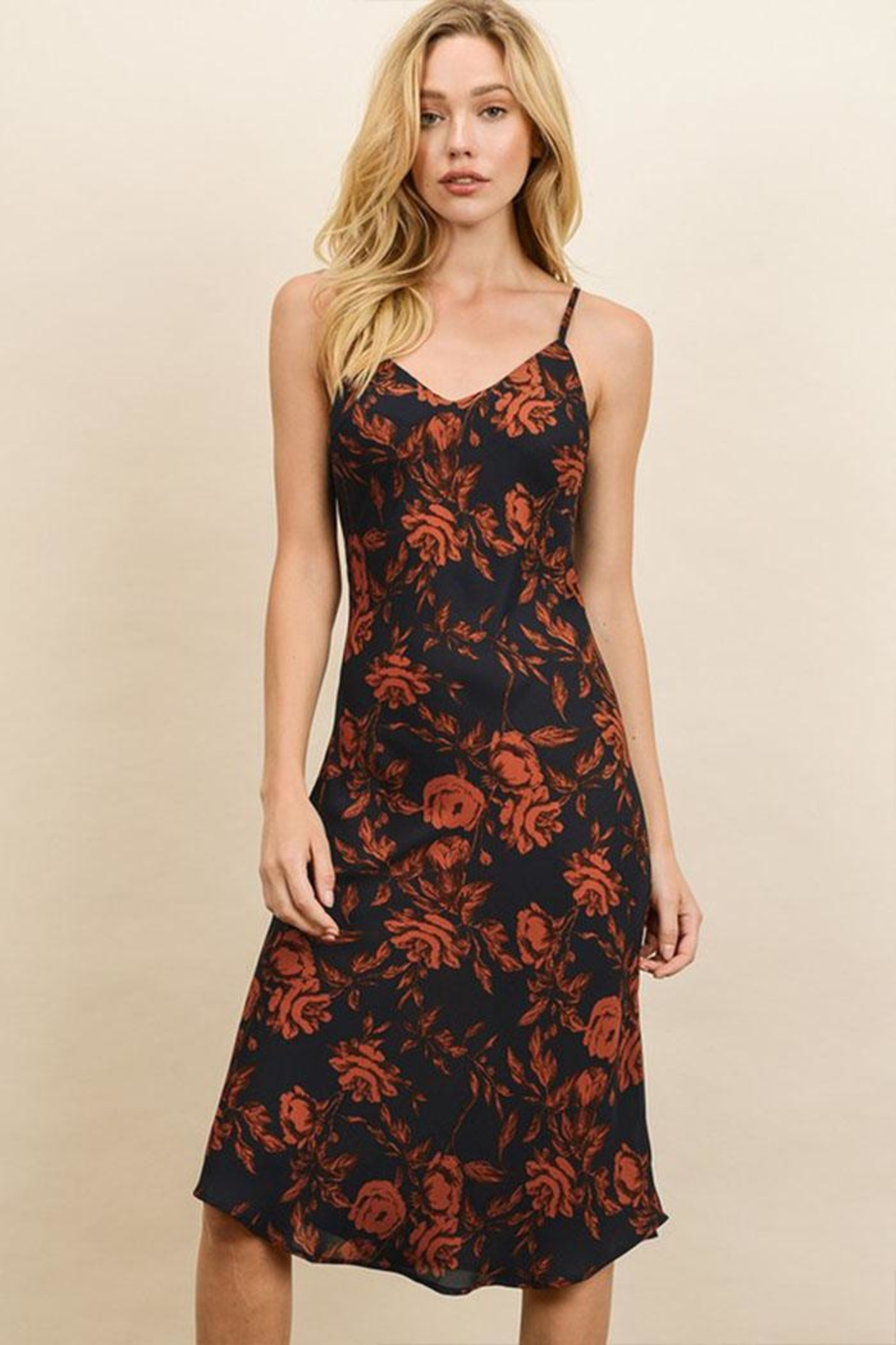 dress forum Floral Slip Dress - Side Cropped Image