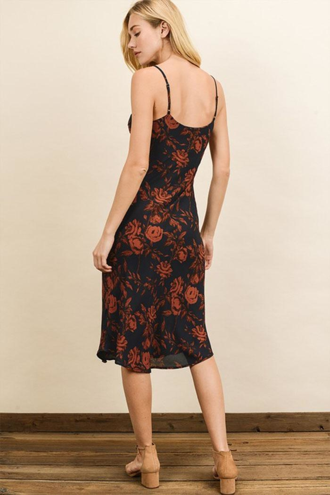 dress forum Floral Slip Dress - Back Cropped Image