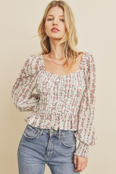 dress forum Floral Striped Top - Product List Image