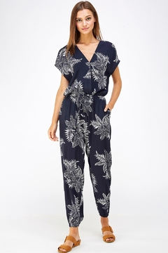 Shoptiques Product: Floral Surplice Jumpsuit