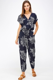 dress forum Floral Surplice Jumpsuit - Product Mini Image
